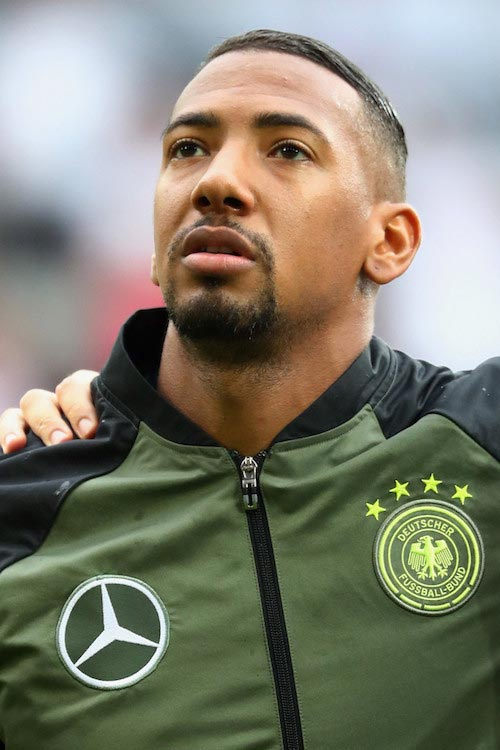 Jerome Boateng prior to a friendly match between Germany and Slovakia on May 29, 2016