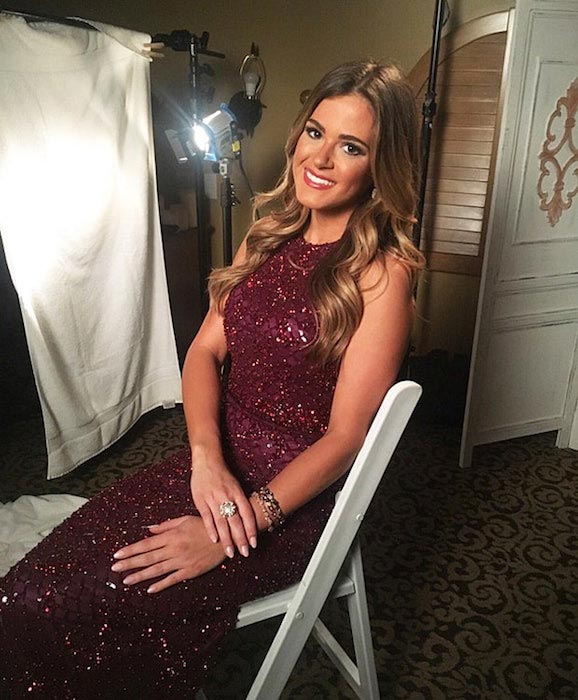 JoJo Fletcher on the set of 'The Bachelorette'
