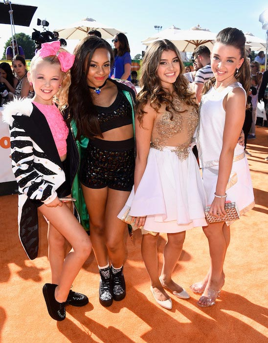 JoJo Siwa, Nia Frazier, Kalani Hilliker and Kendall Vertes at Nickelodeon's 28th Annual Kids Choice Awards