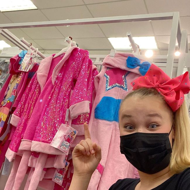 JoJo Siwa showing her collection JoJo's Slumber Party at Target store in Septmber 2020
