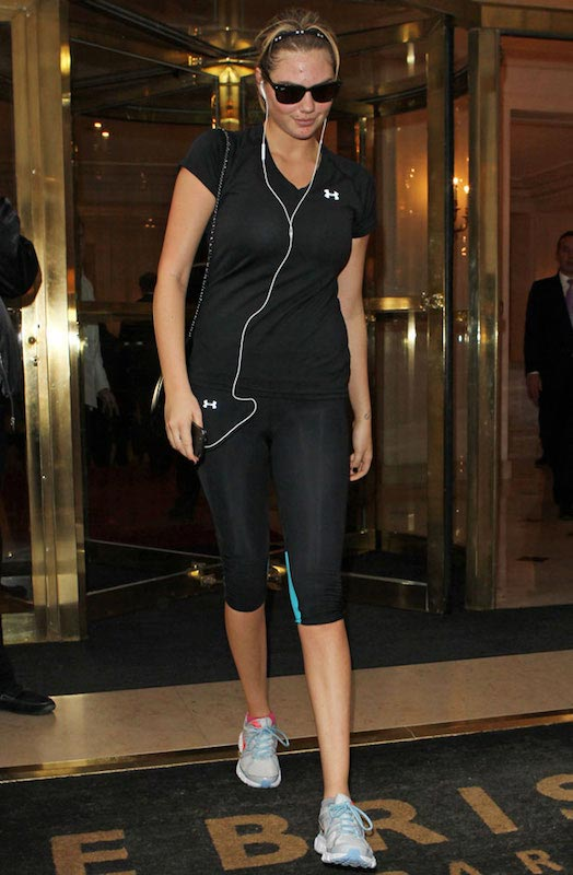 Kate Upton leaving a gym in Paris