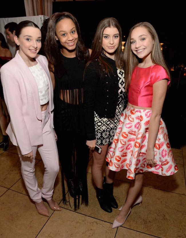 Kendall Vertes, Nia Sioux Frazier, Kalani Hilliker and Maddie Ziegler at Miss Me and Cosmopolitan's Spring Campaign Launch Event in February 2016