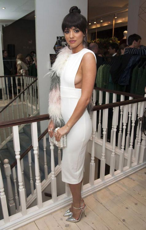 Lucy Mecklenburgh at DELAM Luxury Cashmere Brand launch event in London, UK in March 2016