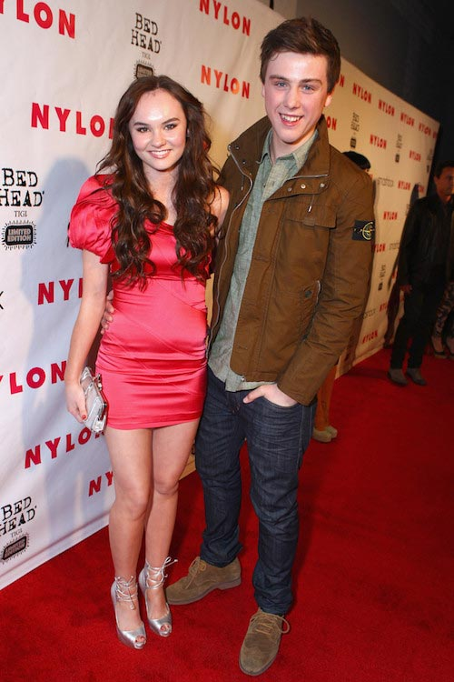 Madeline Carroll and Sterling Beaumon at the Nylon Magazine's 13th Anniversary Celebration in April 2012