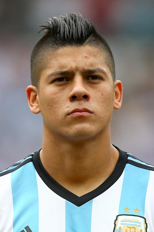 Marcos Rojo prior to a 2014 FIFA World Cup match between Argentina and Nigeria on June 25, 2014 in Porto Alegre, Brazil