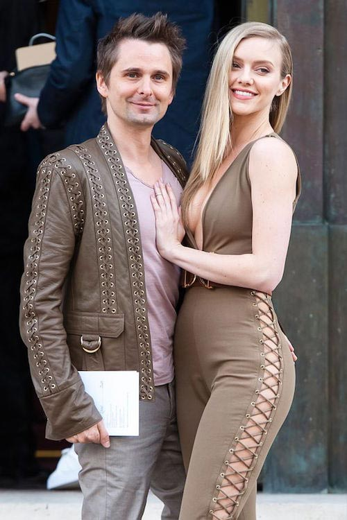 Matthew Bellamy and girlfriend Elle Evans