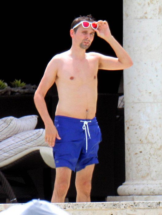 Matthew Bellamy shirtless body
