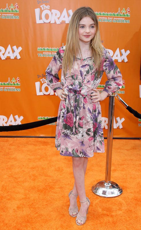 Morgan Lily at the world premiere of Dr. Seuss' The Lorax in 2012