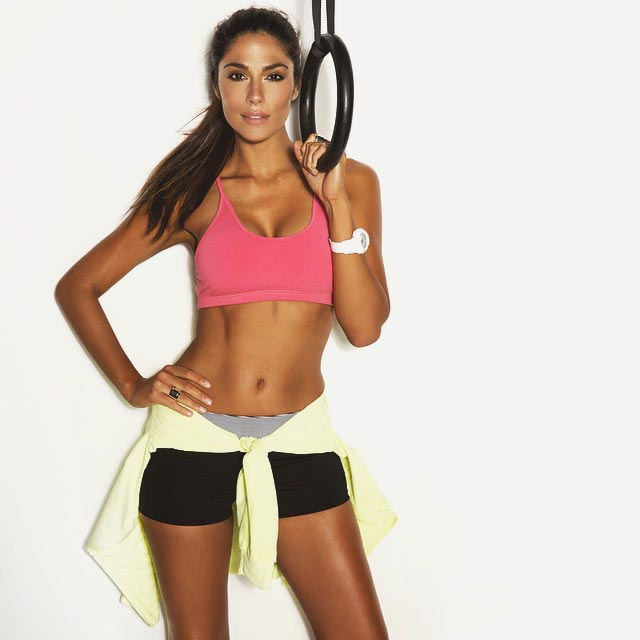 Pia Miller in her workout gear