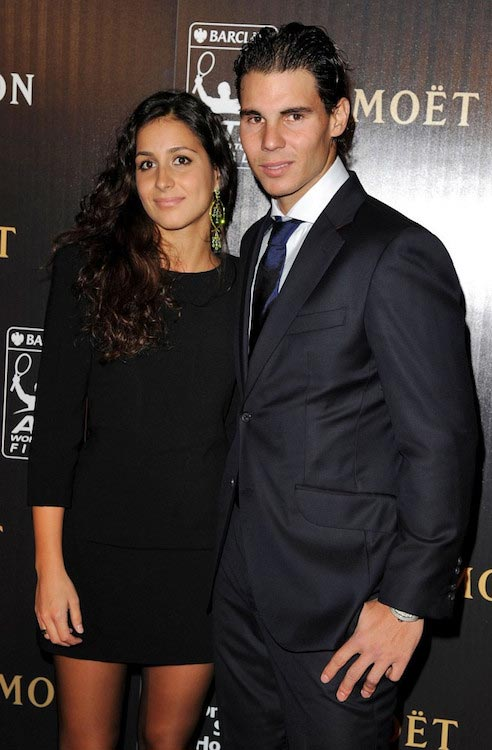 Rafael Nadal with his fiancee Maria Francisca Perello at the Barclays ATP World Tour Gala in 2011