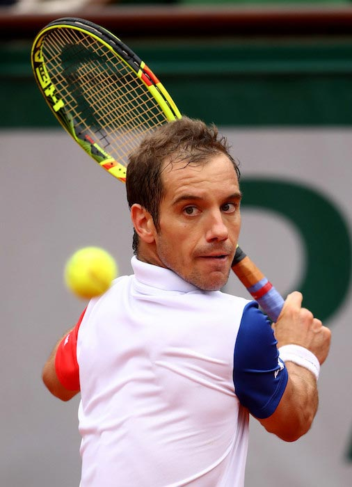 Richard Gasquet during a match against Andy Murray at 2016 French Open on June 1, 2016
