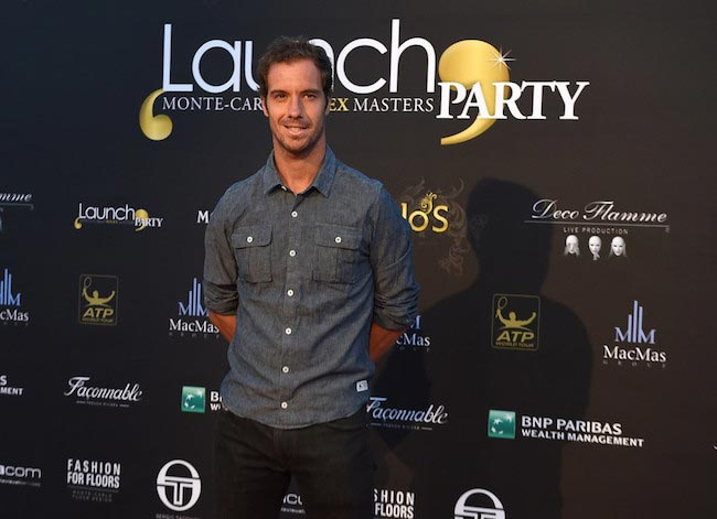 Richard Gasquet at the opening party of ATP Monte Carlo Masters on April 9, 2016