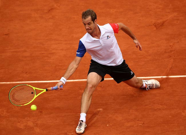 Richard Gasquet during a quarter final match against Andy Murray at 2016 French Open on June 1, 2016