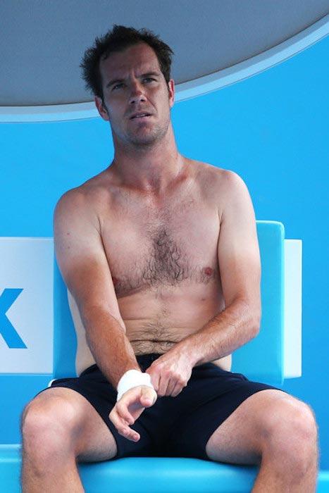 Richard Gasquet shirtless body