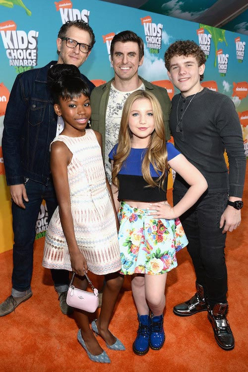 Riele Downs, Ella Anderson, Jeffery Brown, Cooper Barnes and Sean Ryan Fox at Nickelodeon's 2016 Kids' Choice Awards