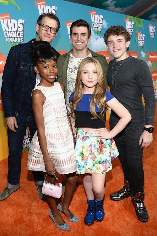 Riele Downs, Ella Anderson, Jeffery Brown, Cooper Barnes and Sean Ryan Fox at Nickelodeon's 2016 Kids' Choice Awards