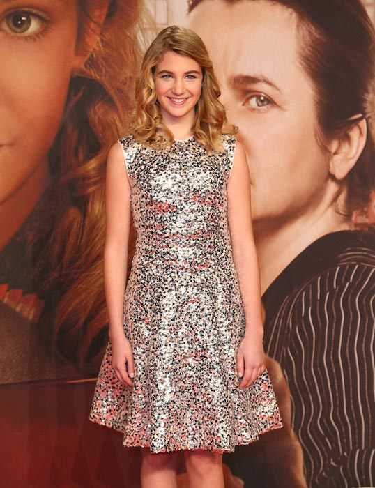 """Sophie Nelisse at the German premiere of """"The Book Thief"""" film in January 2014"""