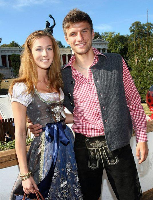 Thomas Muller and Lisa Trede in Oktoberfest in Germany