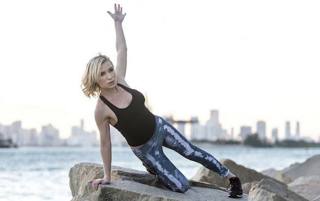 Tracy Anderson working out