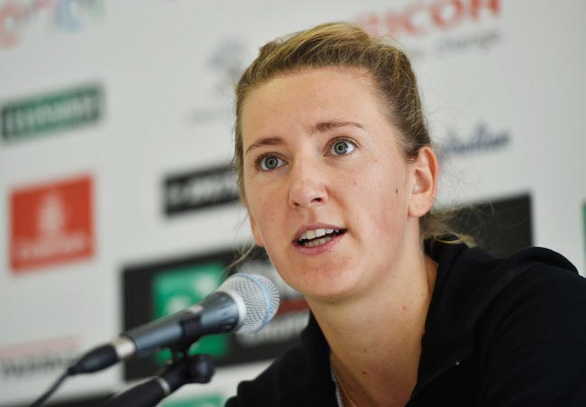 Victoria Azarenka during a media day at The Internazionali BNL d'Italia on May 11, 2016 in Rome, Italy