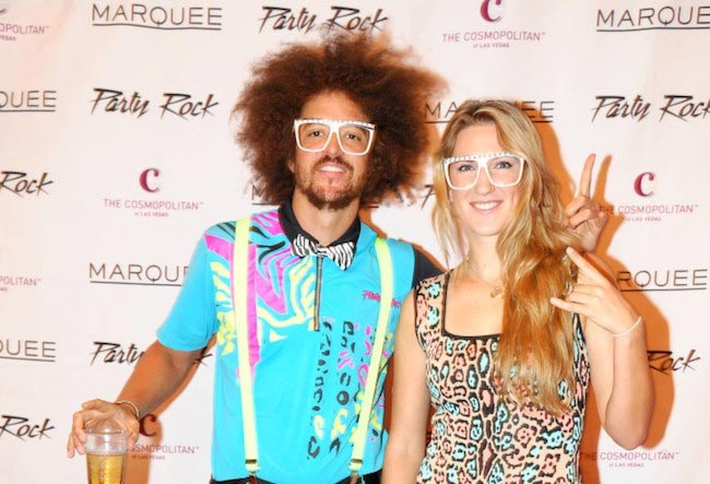 Victoria Azarenka with Stefan Gordy known as Redfoo