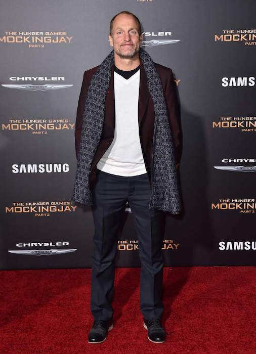 Woody Harrelson at the premiere of Lionsgate's The Hunger Games Mockingjay - Part 2 on November 16, 2015