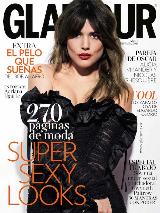 Adriana Ugarte for Glamour magazine's April 2016 issue