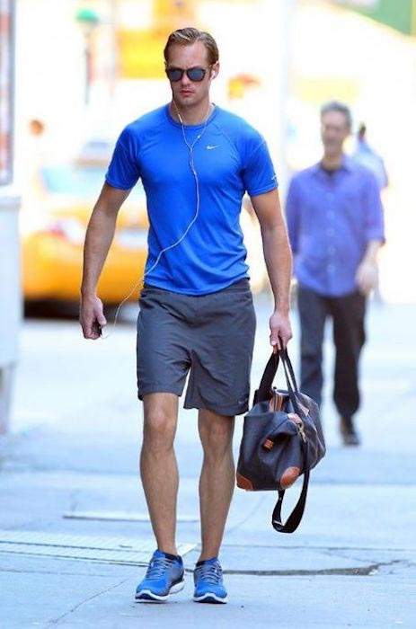 Alexander Skarsgard in his workout gear