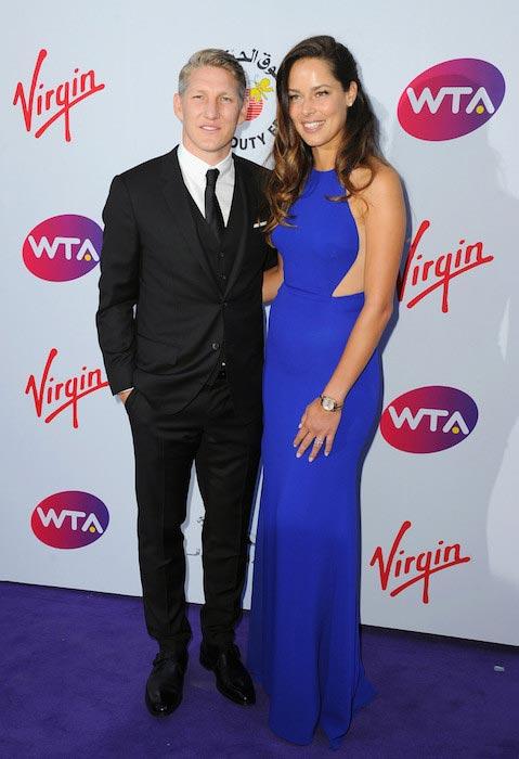 Bastian Schweinsteiger with Ana Ivanovic