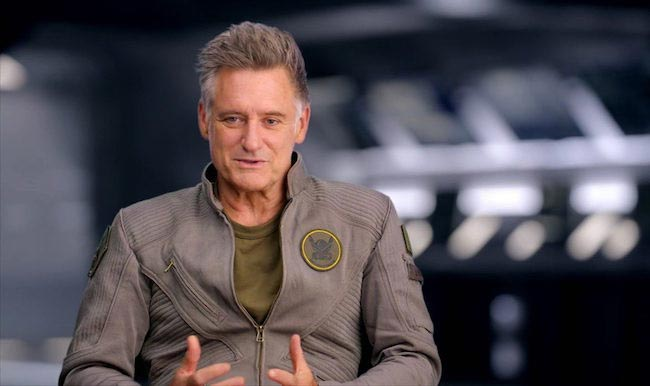 "Bill Pullman looks fit in an interview for ""Independence Day: Resurgence"" in 2016"