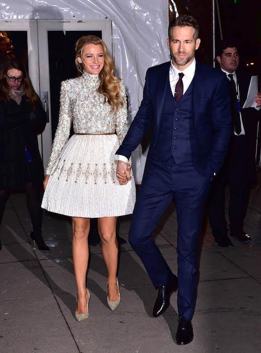 Blake Lively and Ryan Reynolds at the 2016 amfAR New York Gala