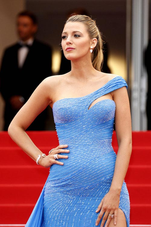 Blake Lively at 2016 Cannes Film Festival Red Carpet Fashion from Atelier Versace