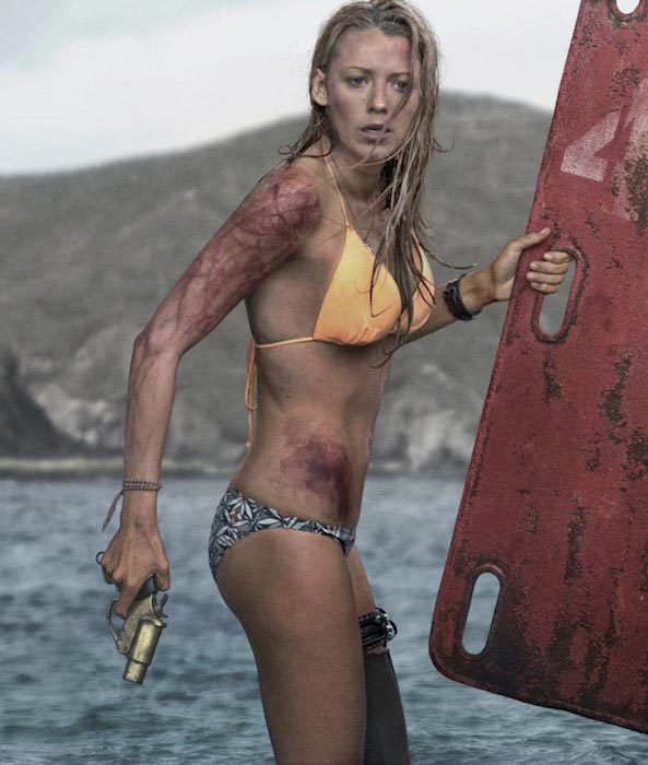 "Blake Lively in a still from the movie ""The Shallows"" 2016"
