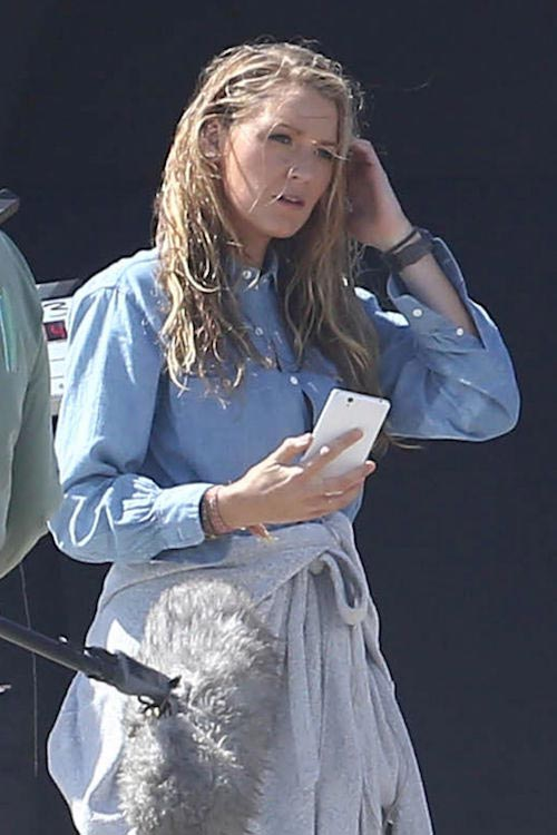 """Blake Lively on the set of """"The Shallows"""" on the beach in Malibu on April 12, 2016"""