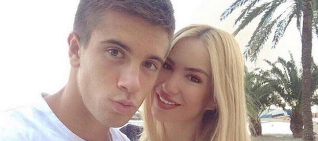 Borna Coric with his girlfriend Valentina Miletic
