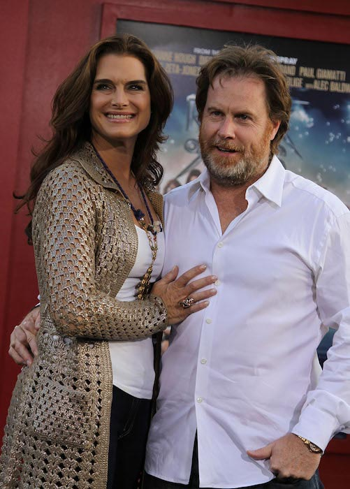 "Brooke Shields and Chris Henchy at the world premiere of ""Rock of Ages"" on June 8, 2012"
