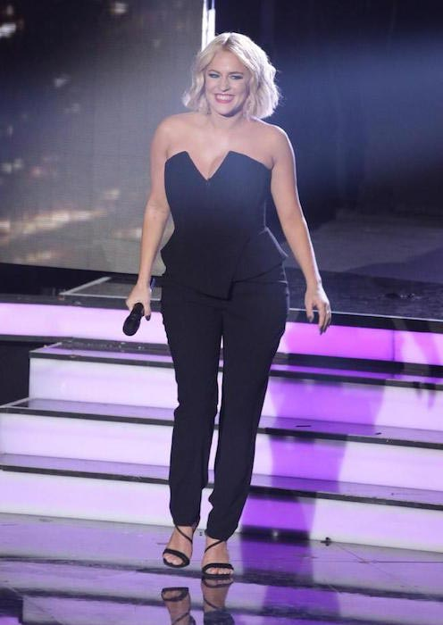 Caroline Flack as she looked on May 27, 2016