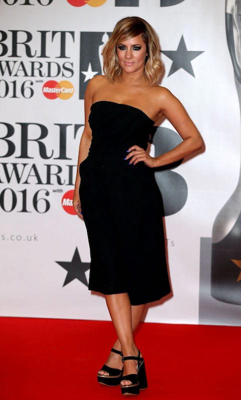 Caroline Flack at Brit Awards 2016 in London