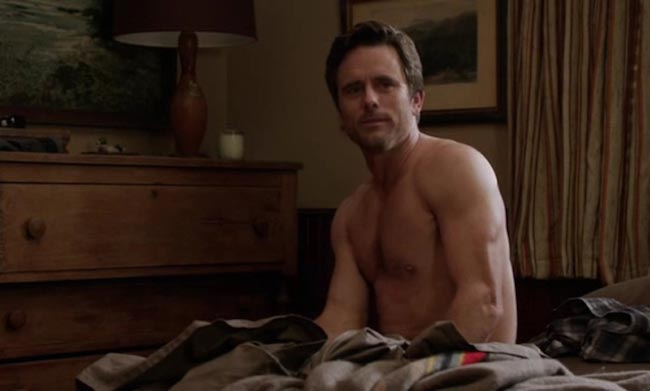 Charles Esten shirtless in a Nashville episode