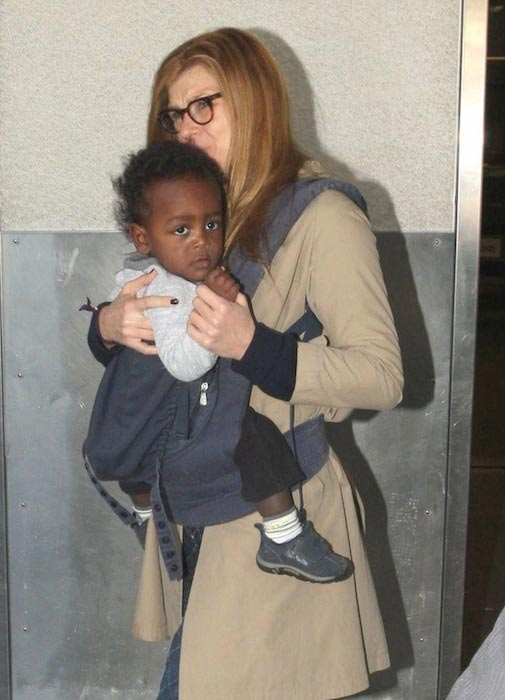 Connie Britton with her adopted son Eyob Britton in 2012