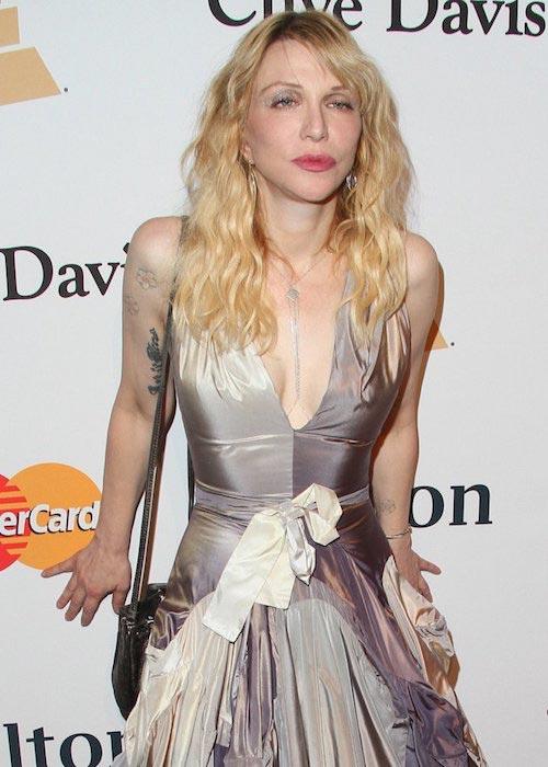Courtney Love at 2016 Pre-Grammy Gala