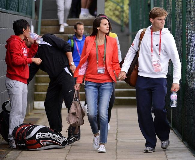 David Goffin and Stephanie Tuccitto
