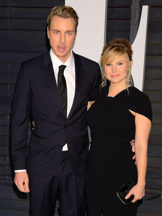 Dax Shepard and Kristen Bell at 2015 Vanity Fair Oscar Party