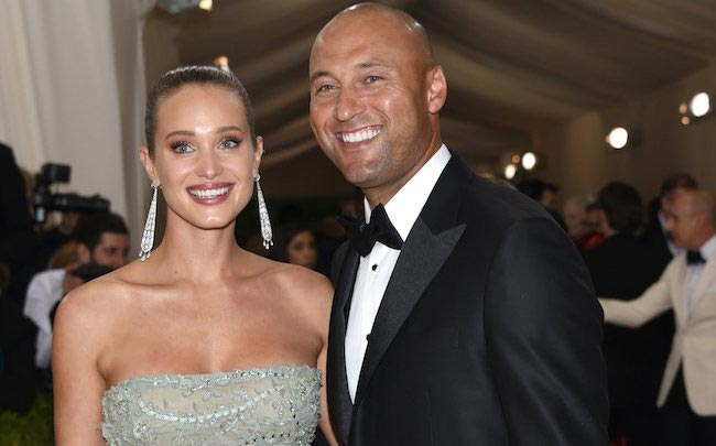 Derek Jeter and his wife Hannah Davis in 2016