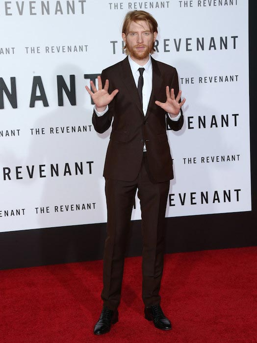"Domhnall Gleeson at the ""The Revenant"" premiere on December 16, 2015 in Hollywood"