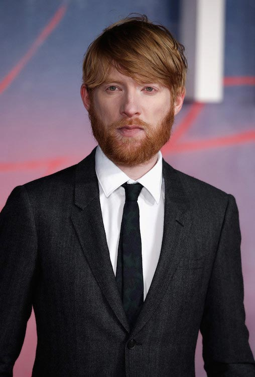 "Domhnall Gleeson at the UK premiere of ""The Revenant"" on January 14, 2016 in London"