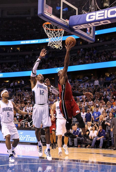 Dwyane Wade in a match against Orlando Magic on March 13, 2012