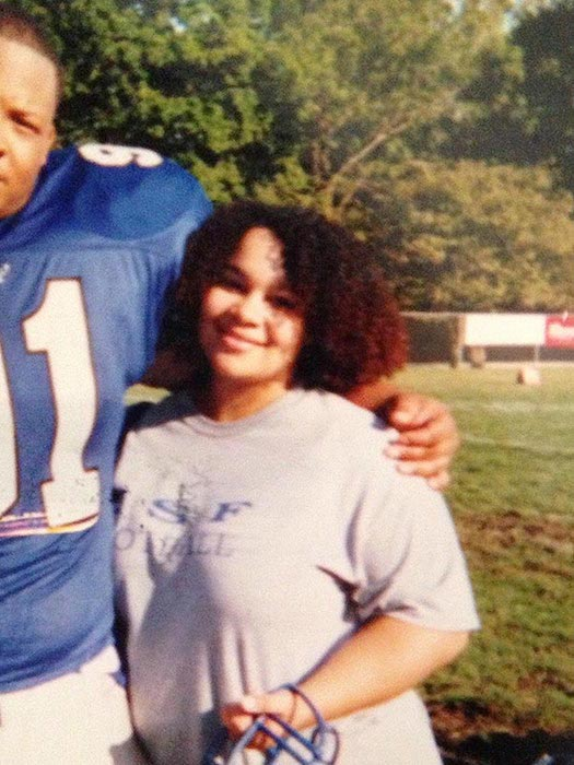 Eve Guzman before achieving high level of fitness