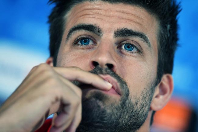Gerard Pique during a media day on June 20, 2016 in Bordeaux, France