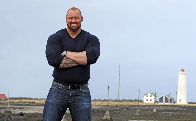 Hafthor Julius Bjornsson looks dapper